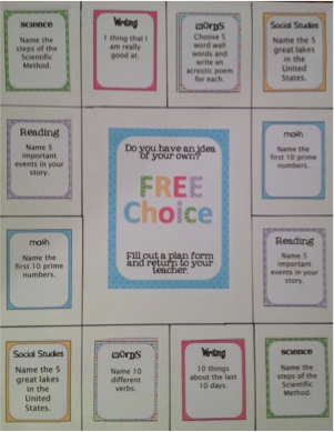 Choice Board 1