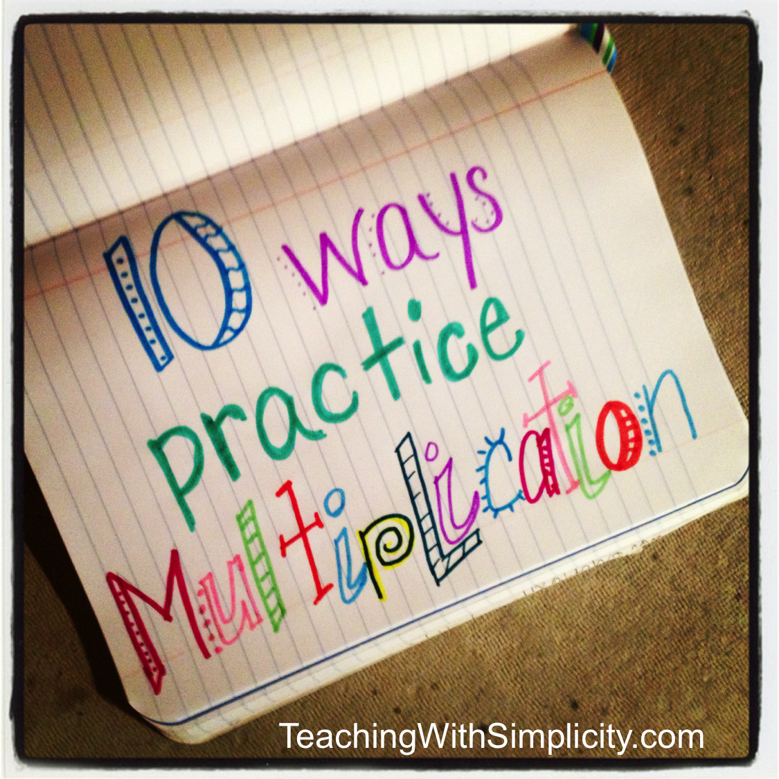 Worksheet Free Printable Multiplication Flash Cards 1-12 10 ways to practice multiplication facts teaching with simplicity