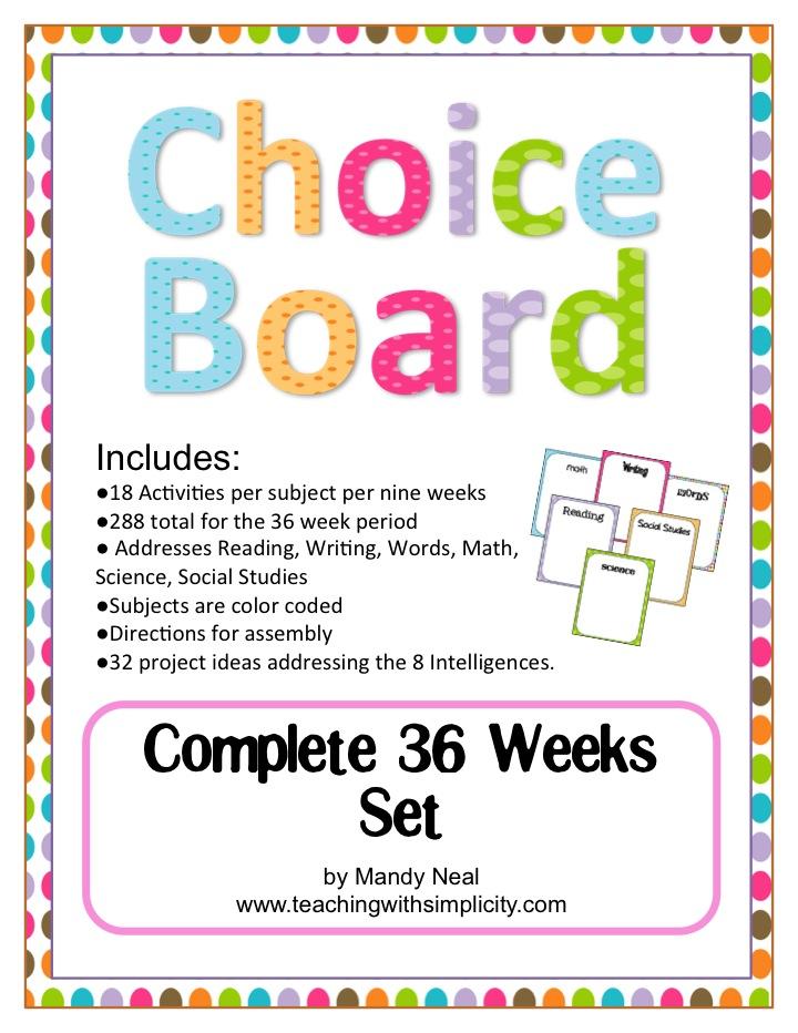 Choice Board