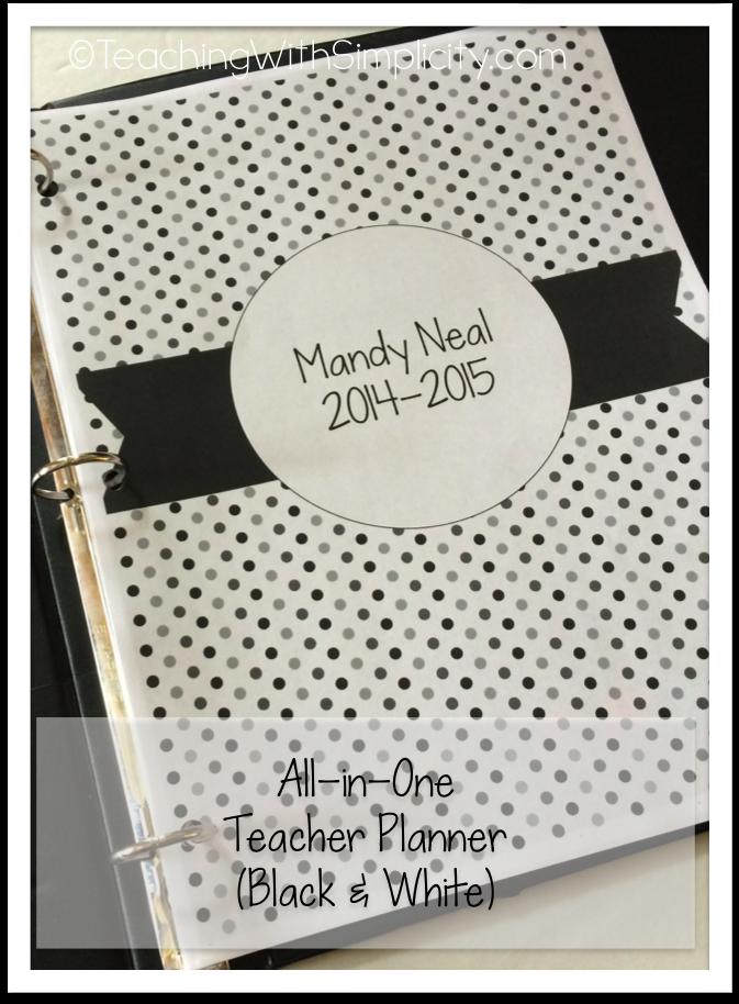 All-in-One Teacher Planner BW