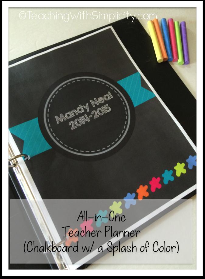 All-in-One Teacher Planner CB