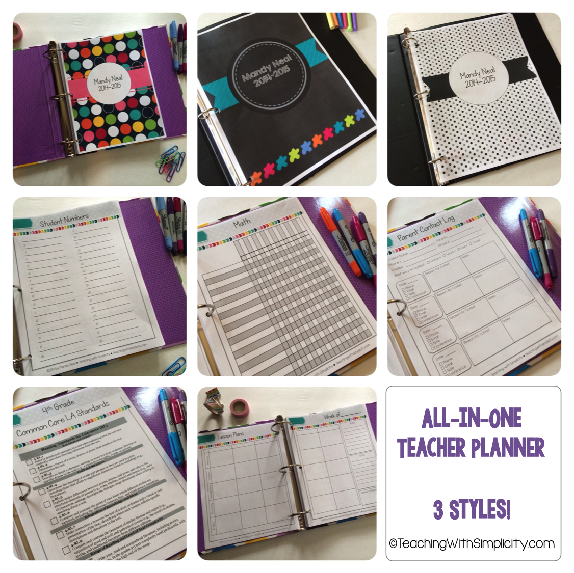 All-in-One Teacher Planner
