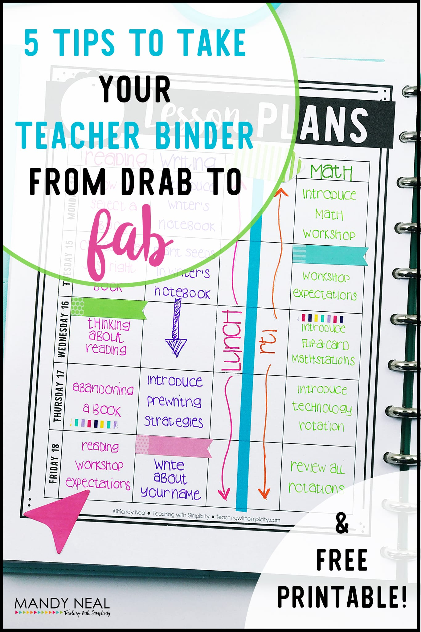 , 5 Tips to Take Your Teacher Binder from Drab to Fab
