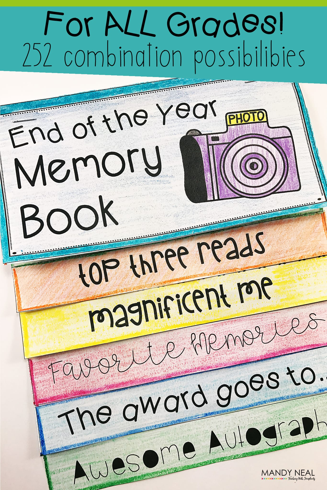 , End of the Year Memory Book