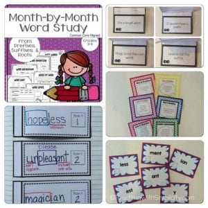 month by month word study - teaching resource
