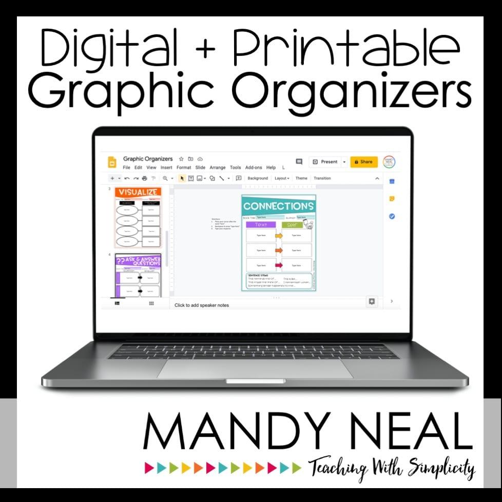 Online teaching tools - educational resources - Digital + Printable Graphic Organizers