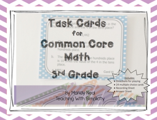 3rd grade Test Prep Task Cards
