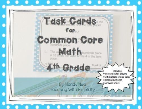 4th grade Test Prep Task Cards