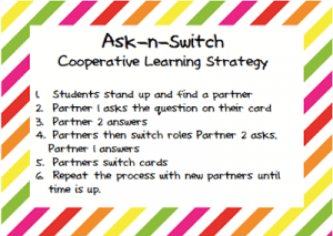 ask n switch earth day - cooperative learning strategy