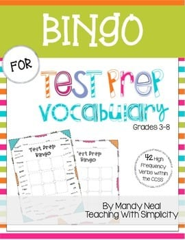 Bingo for test prep
