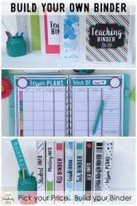 Build Your Own Binder - classroom learning activity - online resources for teachers