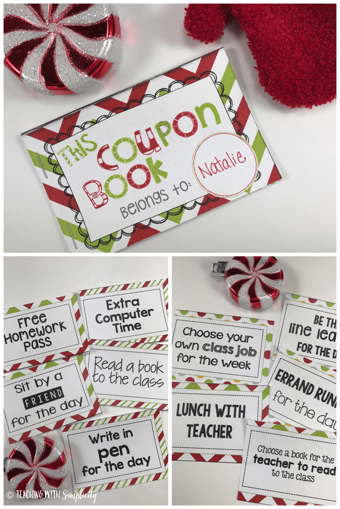 Christmas coupon book collage