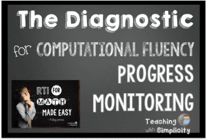 diagnostic for computation fluency