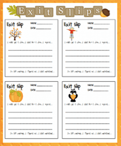 fall classroom exit slips for students - 4