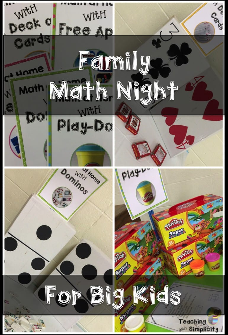 Family Math Night for Big Kids