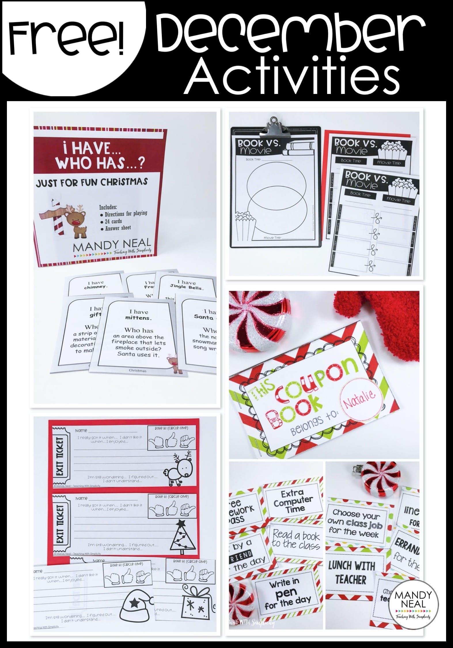 , December Teaching Resources