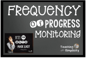Graphic and progress monitoring for math education instruction 2