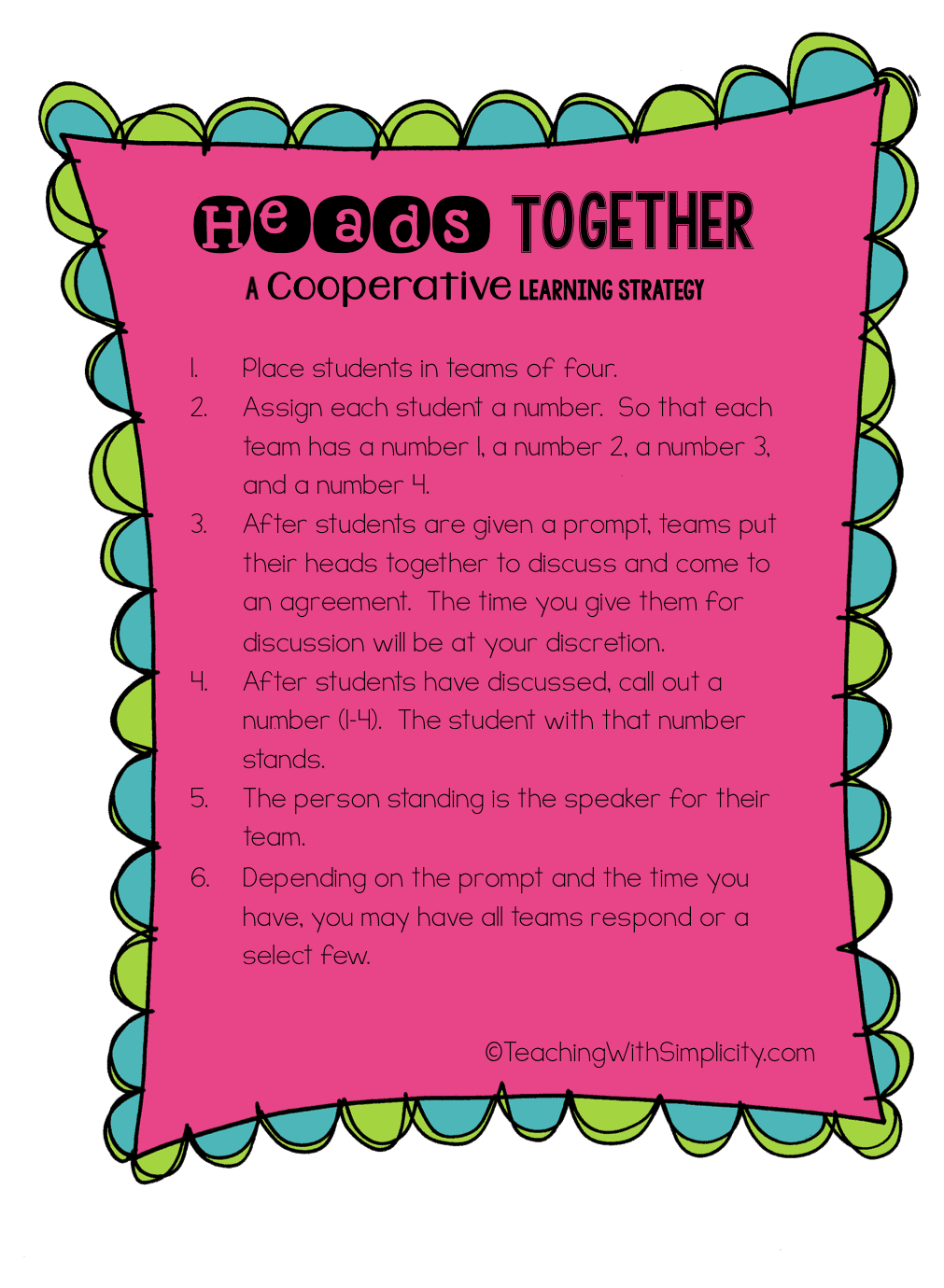 heads together sheet