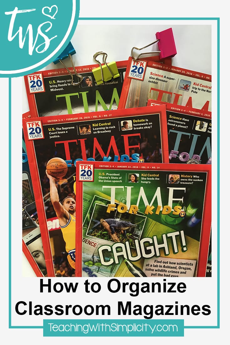How to Organize Classroom magazines