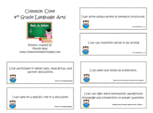 language arts common core poster