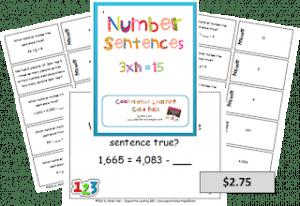 number sentences - math lesson plans - online teacher resources