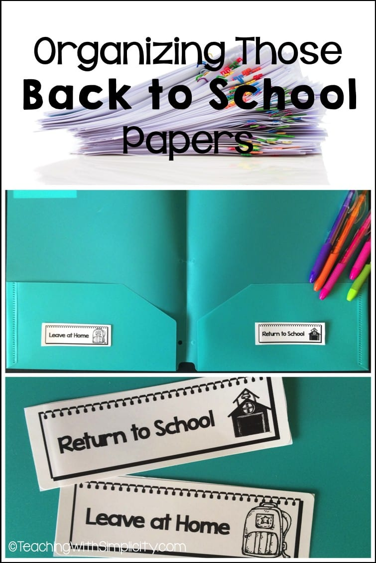 Organizing those back to school papers