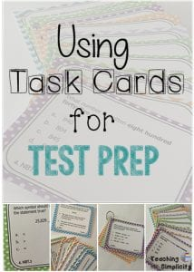 task cards for test prep
