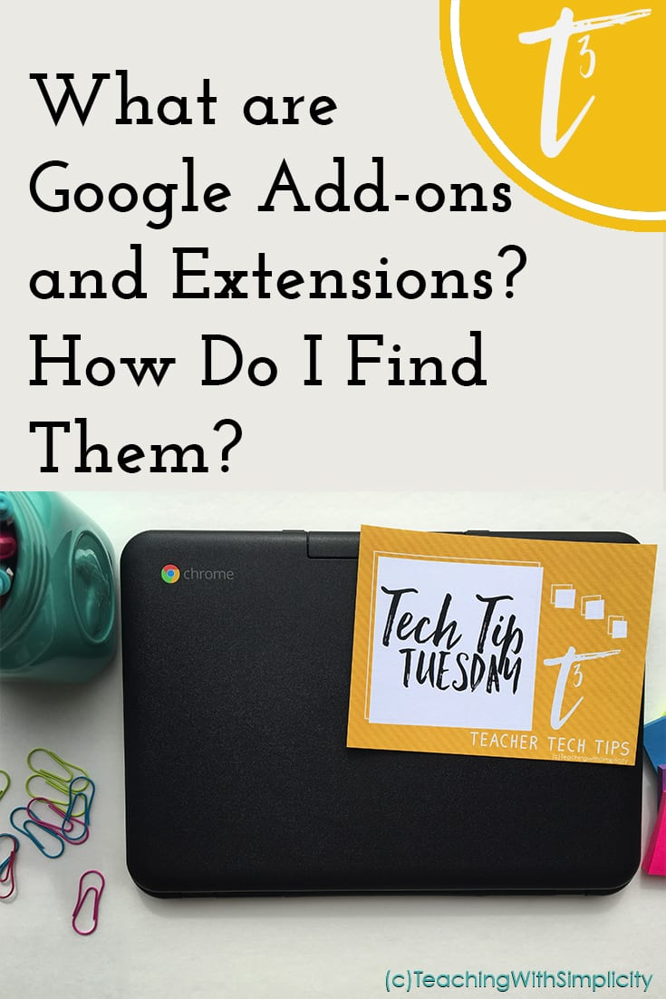 What are google add ons and extensions