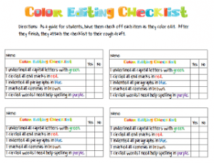 color editing checklist
