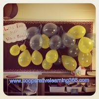 balloons bulletin board for classroom