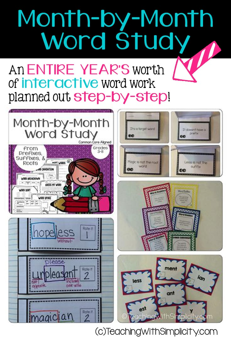 month by month word study