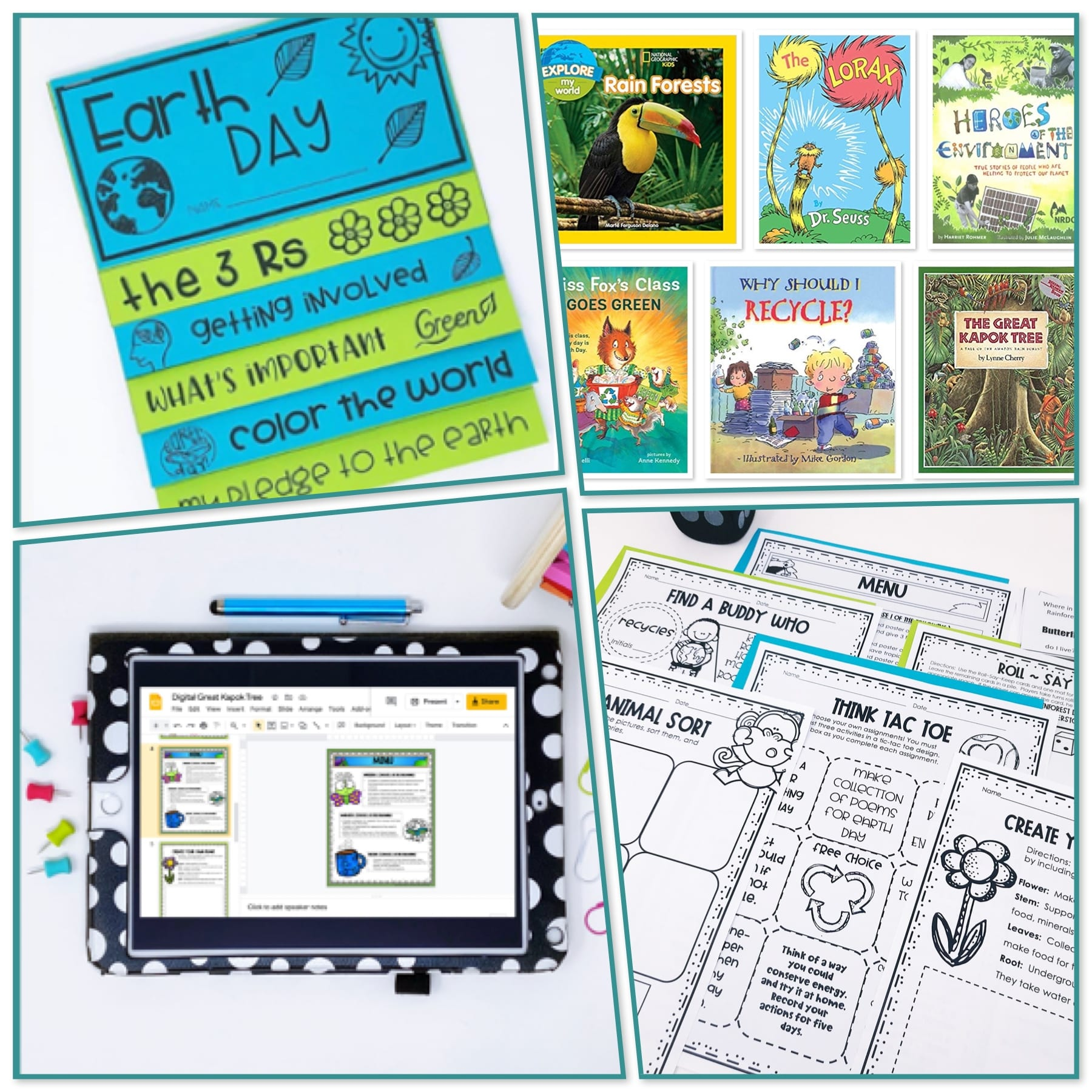 Earth Day Read Alouds and Activities - teacher classroom activity resources onlines