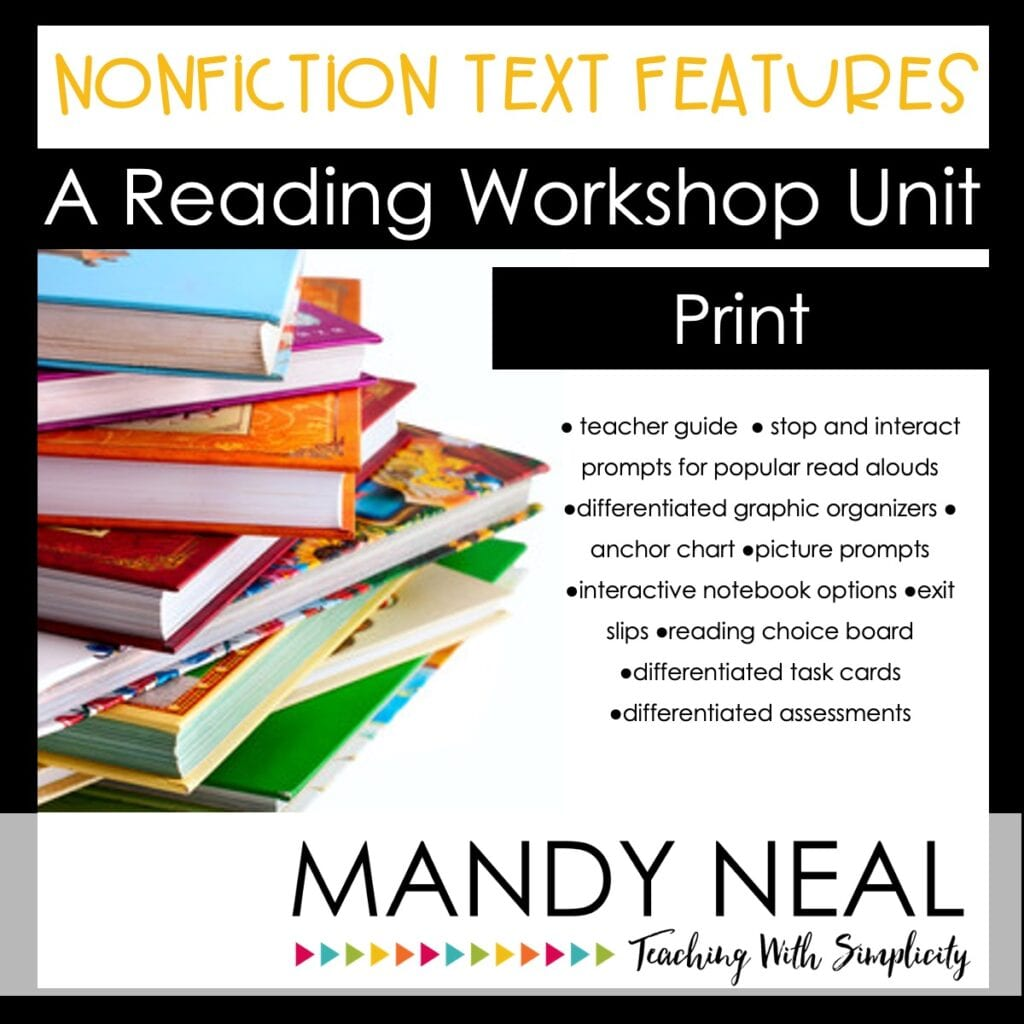Printable Nonfiction Text Structures - reading workshop unit - print