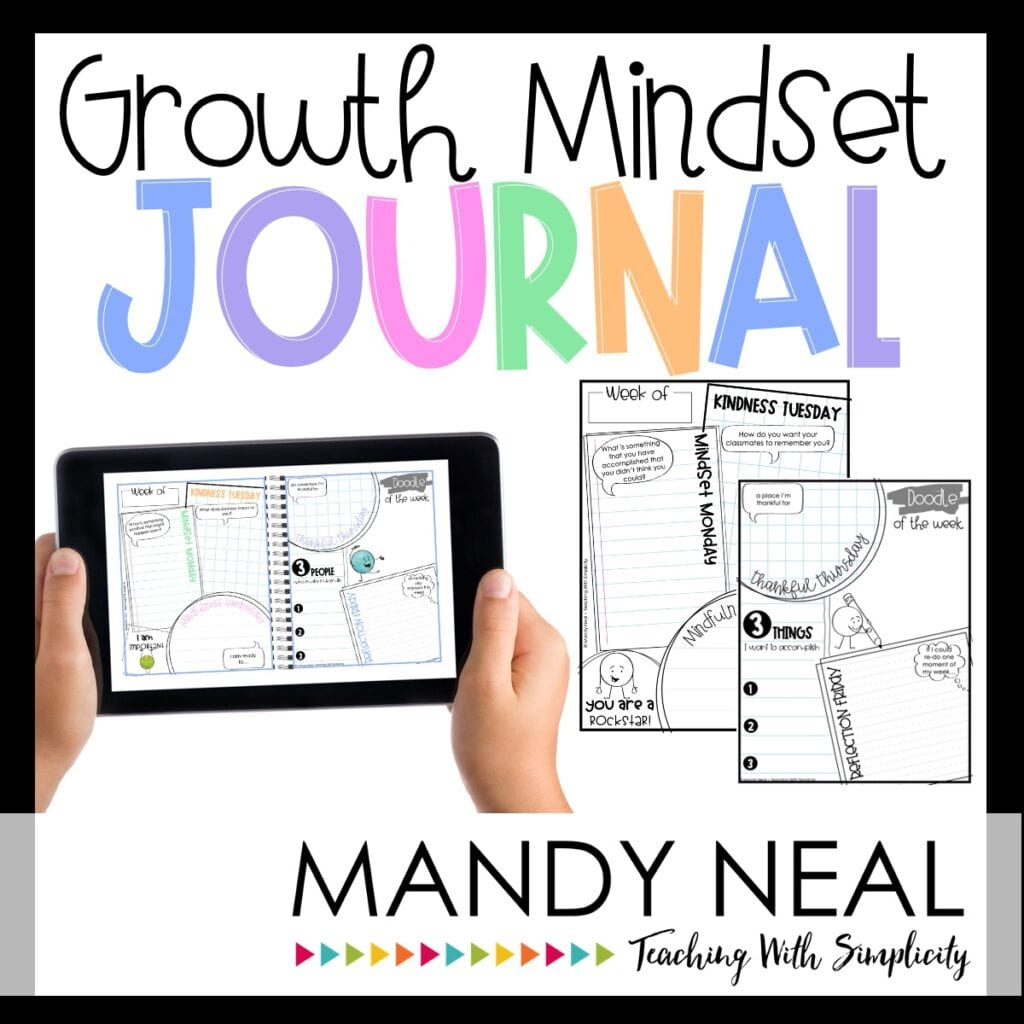 Growth Mindset Journal - educational resources online for teachers