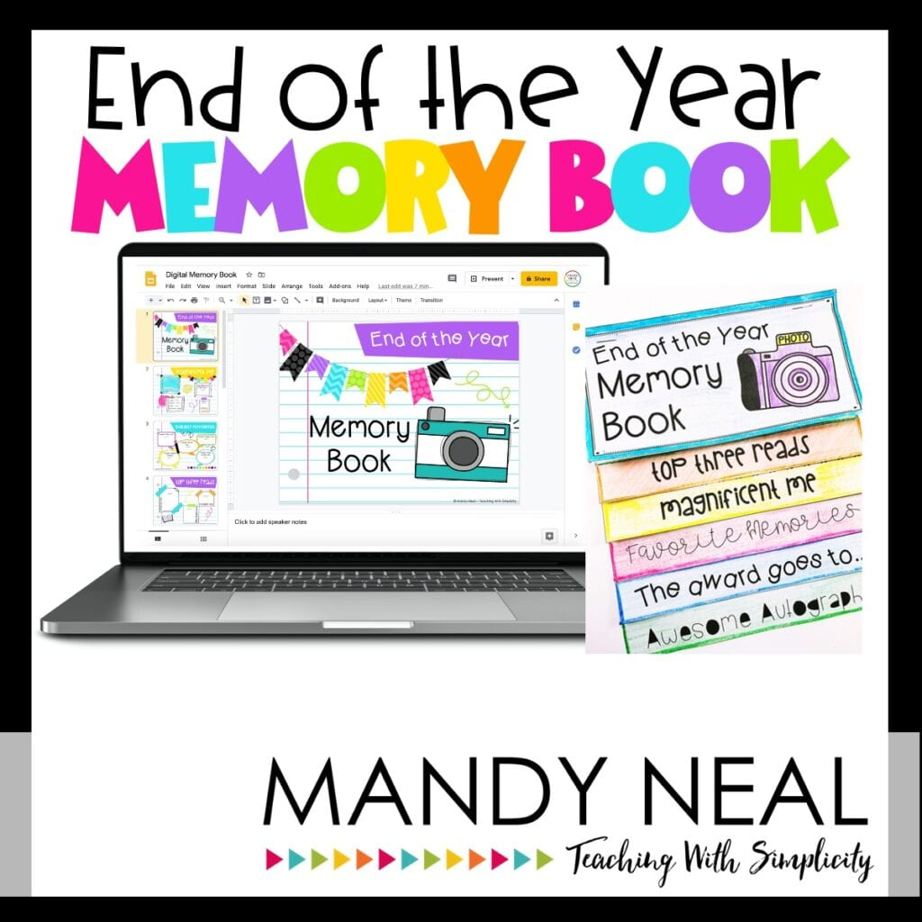 End of the Year Memory Book - online teacher resources