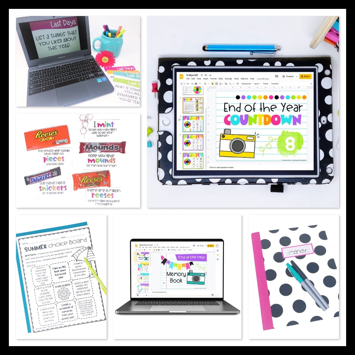 End of the year activities, freebies, and gift ideas for students - online teacher resources