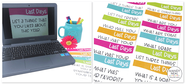 End of the year activities and task cards